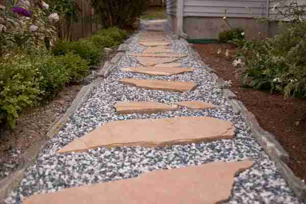 5 ways to beautify your backyard aden earthworks - Stepping stones for walkways ...